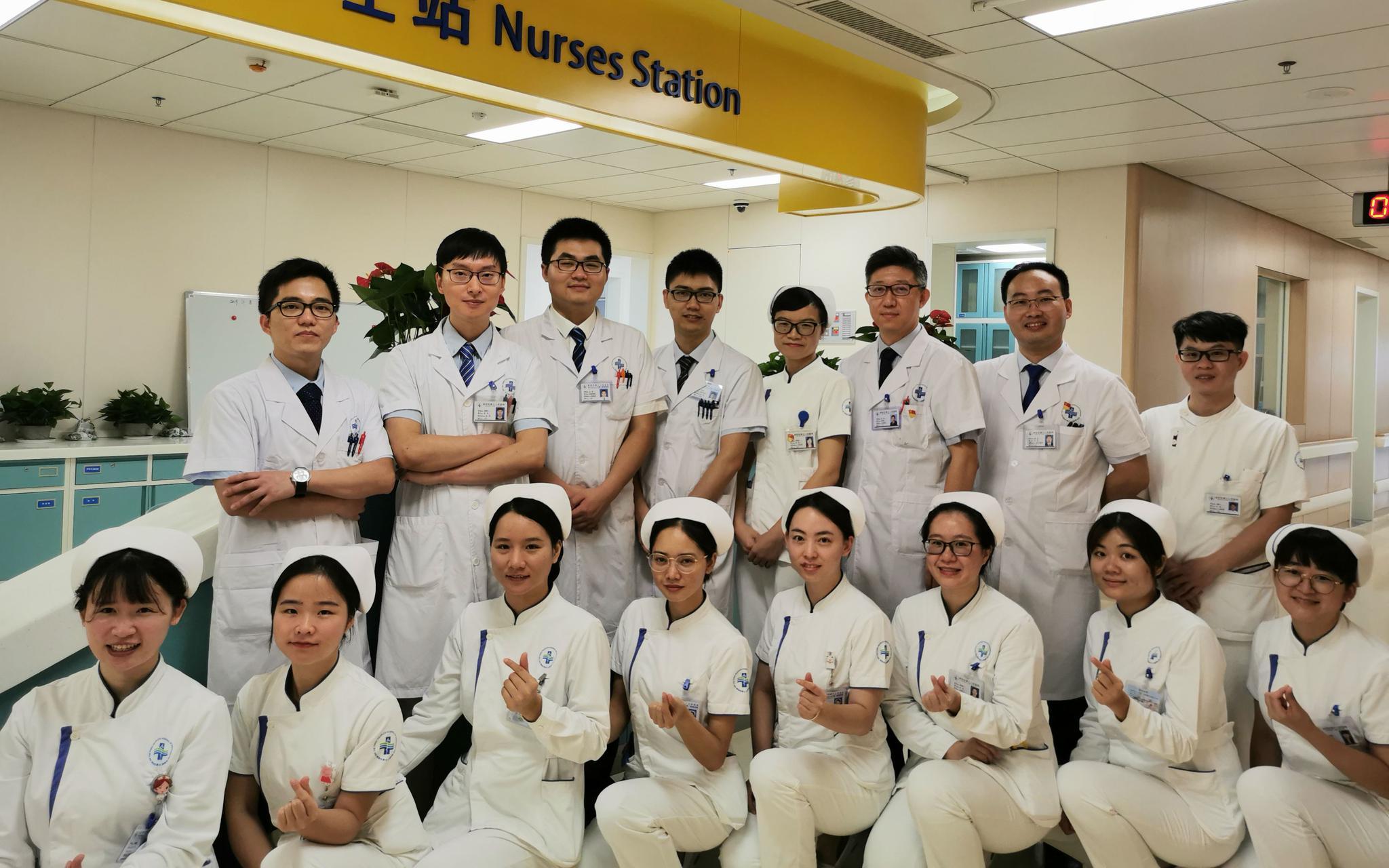 深圳市第三人民医院肝脏外科医护人员。受访者供图
