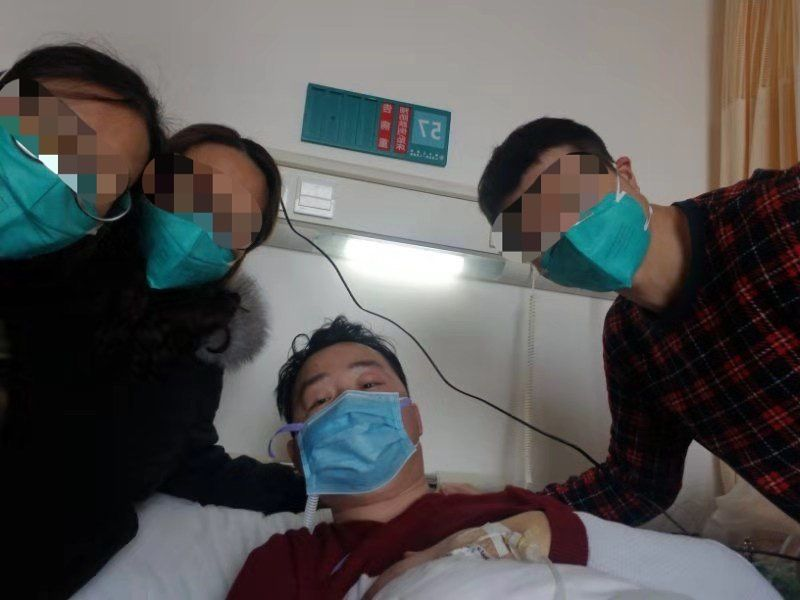 彭银华在生病期间。受访者供图