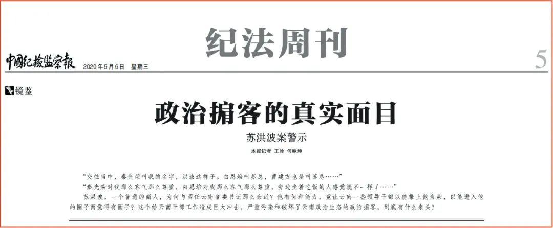 《政治掮客的真实面目苏洪波案警示》