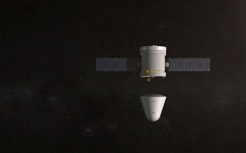 新一代载人飞船返回舱与服务舱两舱别离模拟图。航天科技集团五院供图