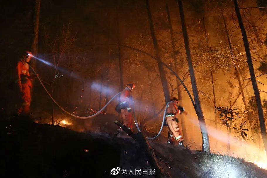 3月28日木里火灾现场