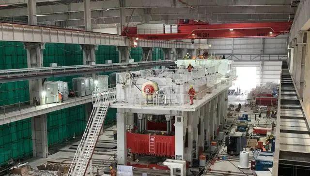 ▲資料圖片:特斯拉上海工廠沖壓生產線設備。(新華社發 特斯拉供圖)