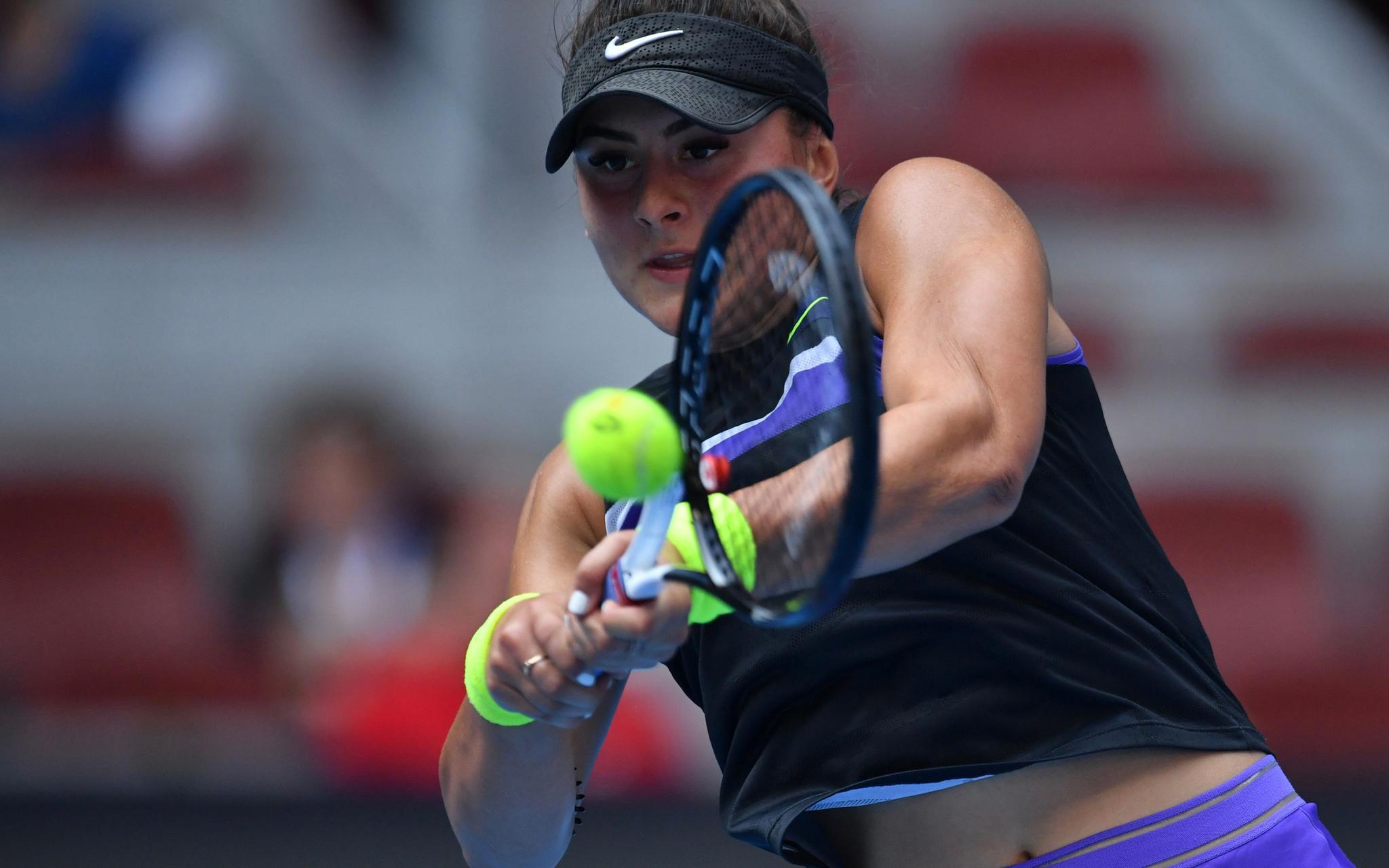 去年美网女单冠军安德莱斯库在比赛中。原料图片