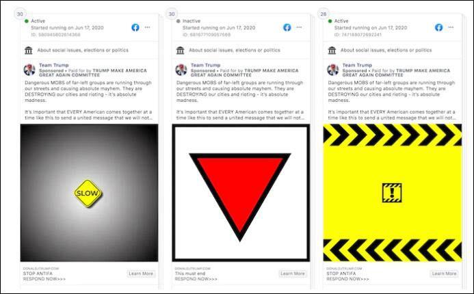 脸书:特朗普竞选团队广告出现纳粹符号 已移除
