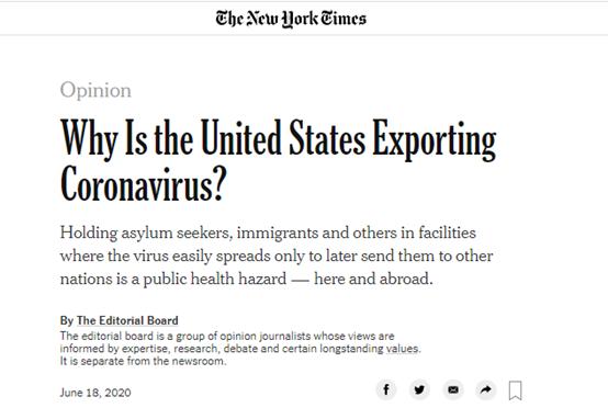 ▲截图来自《纽约时报》的社评文章