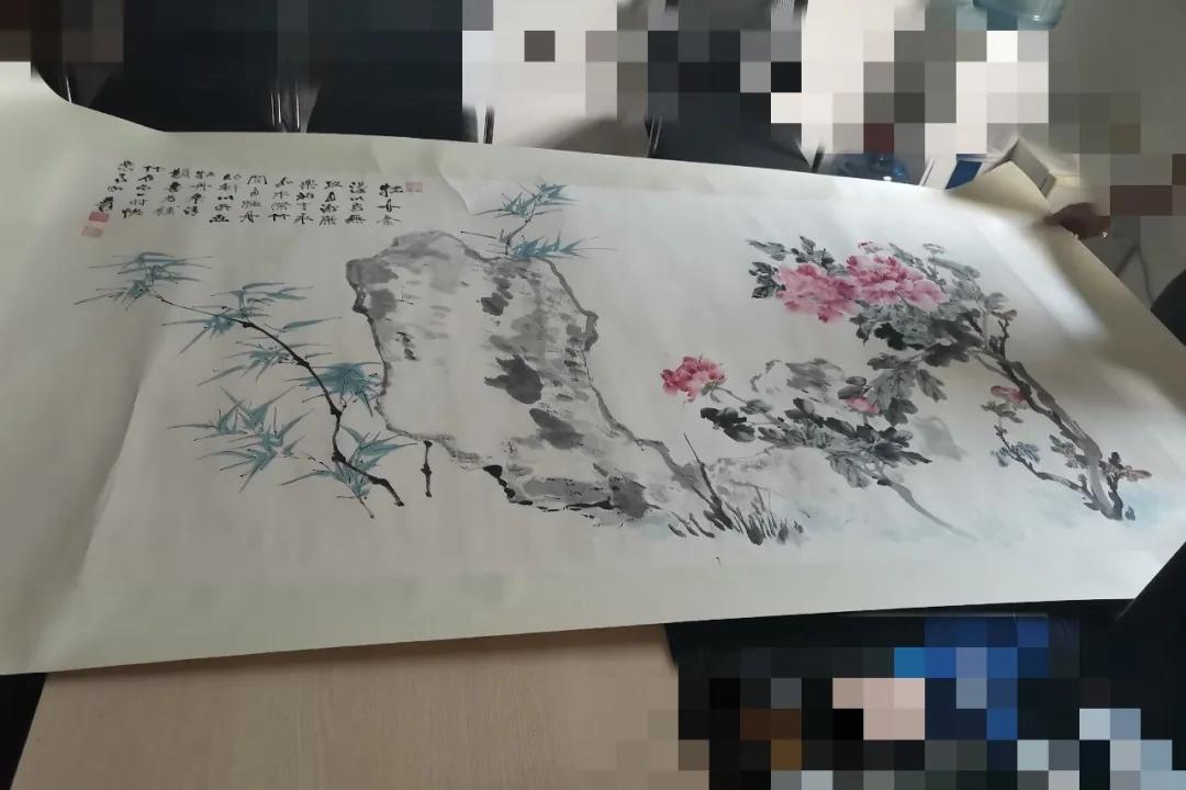 """王大爷珍藏的牡丹画  """"坦然拱墅""""微信公号 图"""