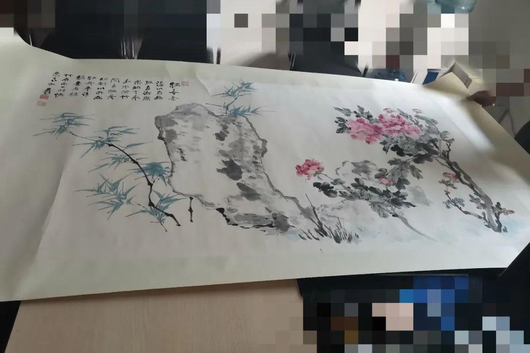 王大爷收藏的牡丹画