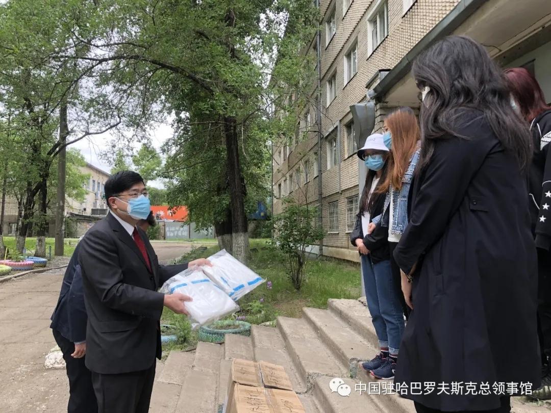 """本文图片均为""""中国驻哈巴罗夫斯克总领事馆""""微信公号 图"""