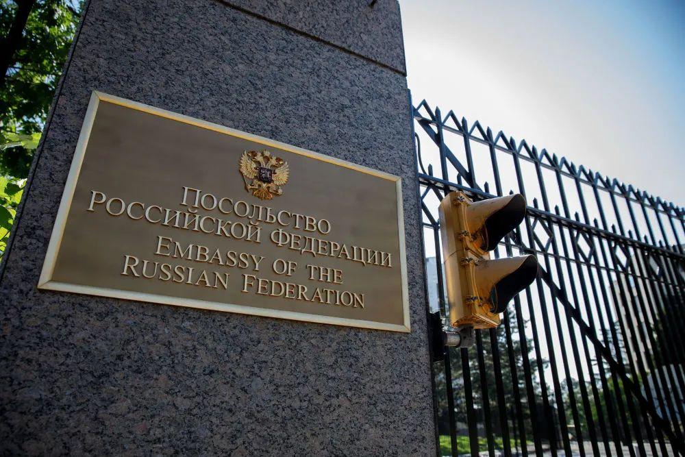 ▲资料图片:2018年8月8日在美国首都华盛顿拍摄的俄罗斯驻美国大使馆外景(新华社发,沈霆摄)