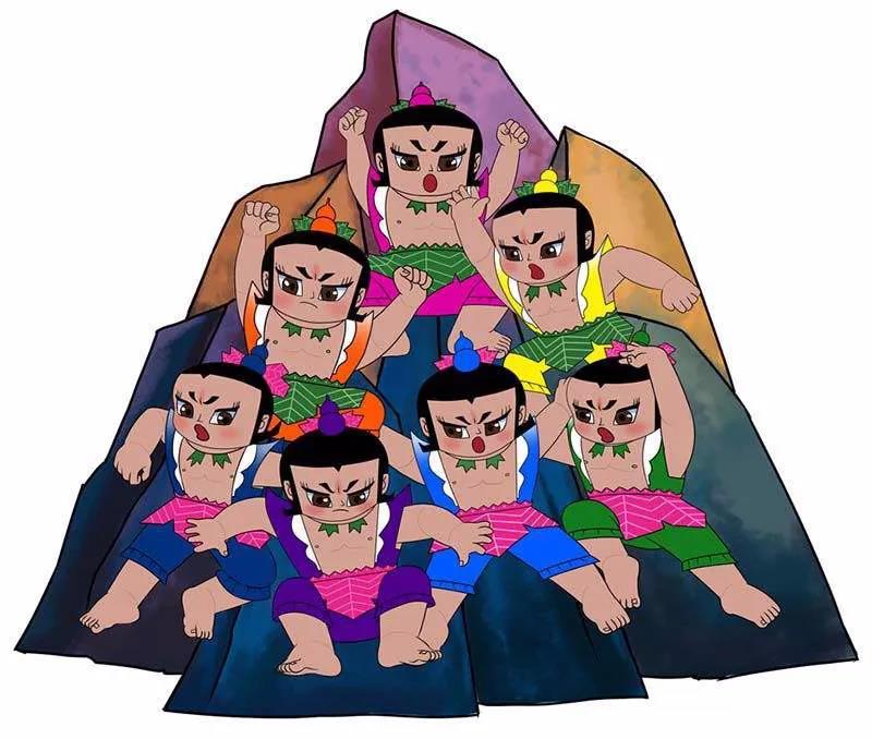 ▲动画《葫芦兄弟》原料图。