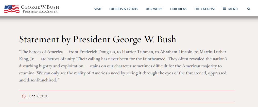 △美国前总统小布什声明