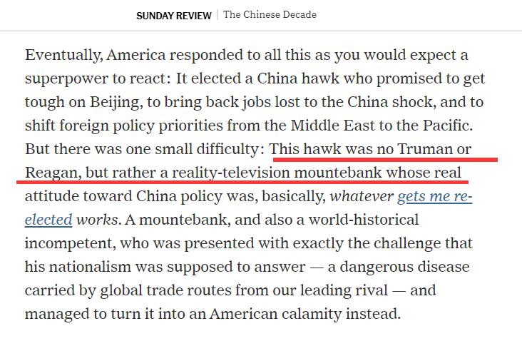 图为Ross Douthat刊登在《纽约时报》上的评论文章