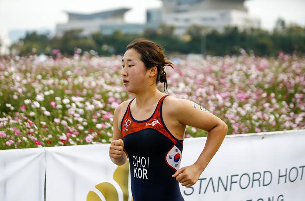 崔淑贤在比赛中。
