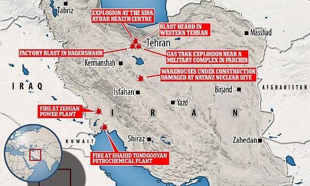 近期伊朗发生的一系列爆炸事件