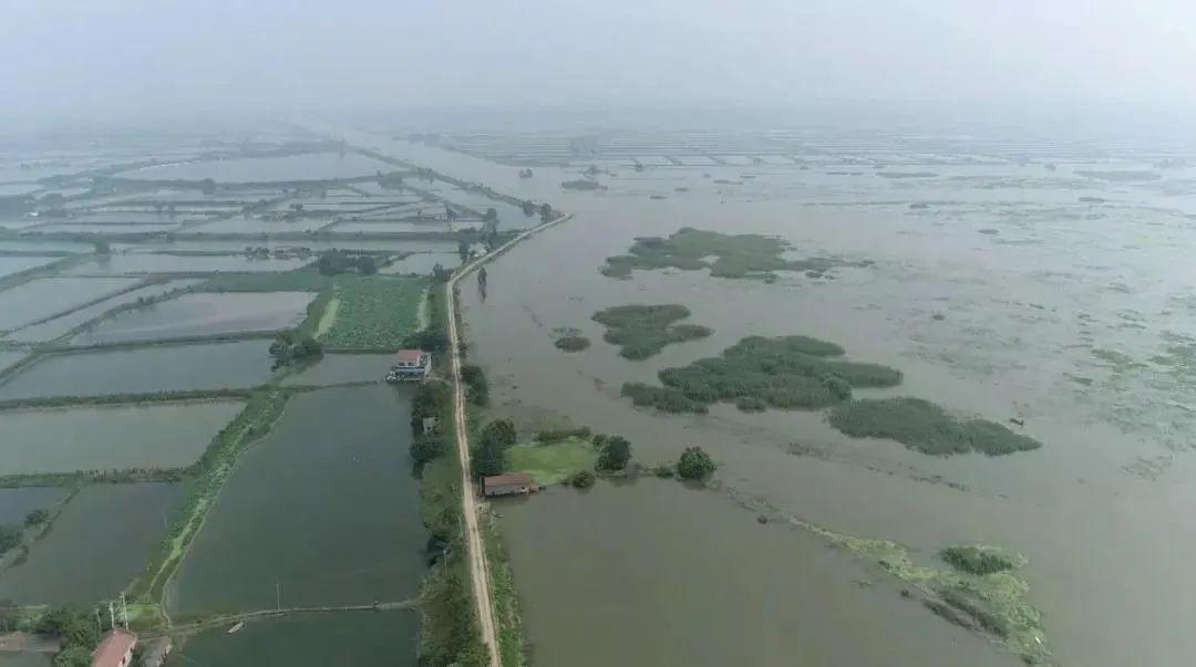 长湖水位上涨。
