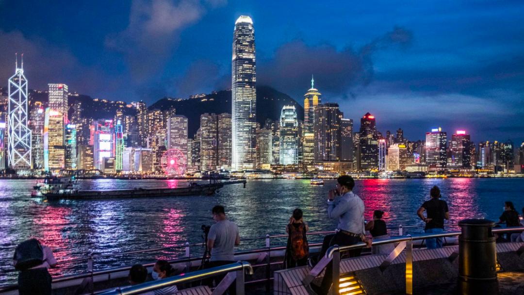 香港夜景 图源:《纽约时报》