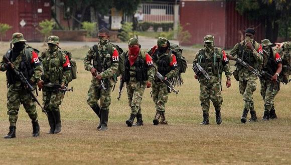 哥伦比亚作恶武装民族悠闲军。图片来源:Twitter