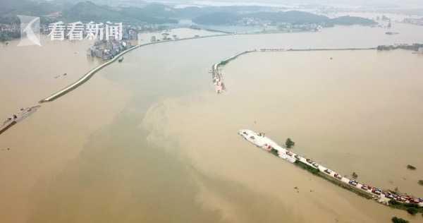 視頻 中洲圩決口推進杏悅遇阻動力舟橋水路救,杏悅圖片