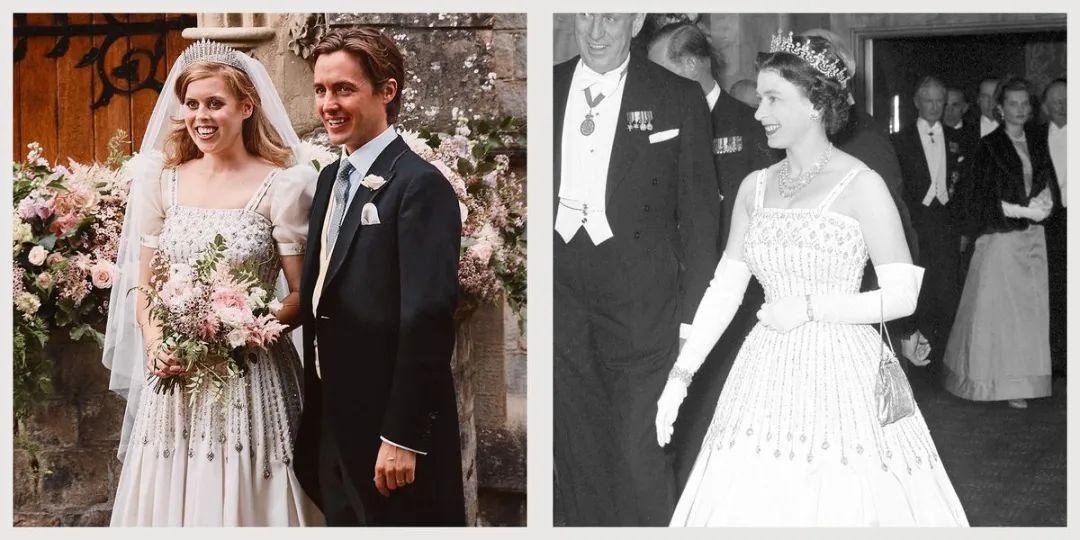 碧翠丝公主的礼服裙女王曾经穿过。/图片来自社交媒体