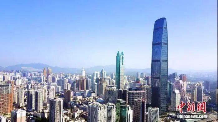 资料图:航拍深圳。中新社记者 陈文 摄