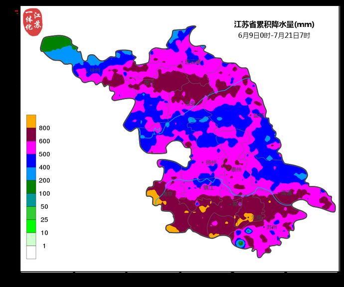 江苏今日出梅,淮河以南梅雨量是常年的2.47倍