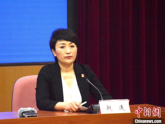 图为大连市卫健委副主任赵连。 邹沧海 摄