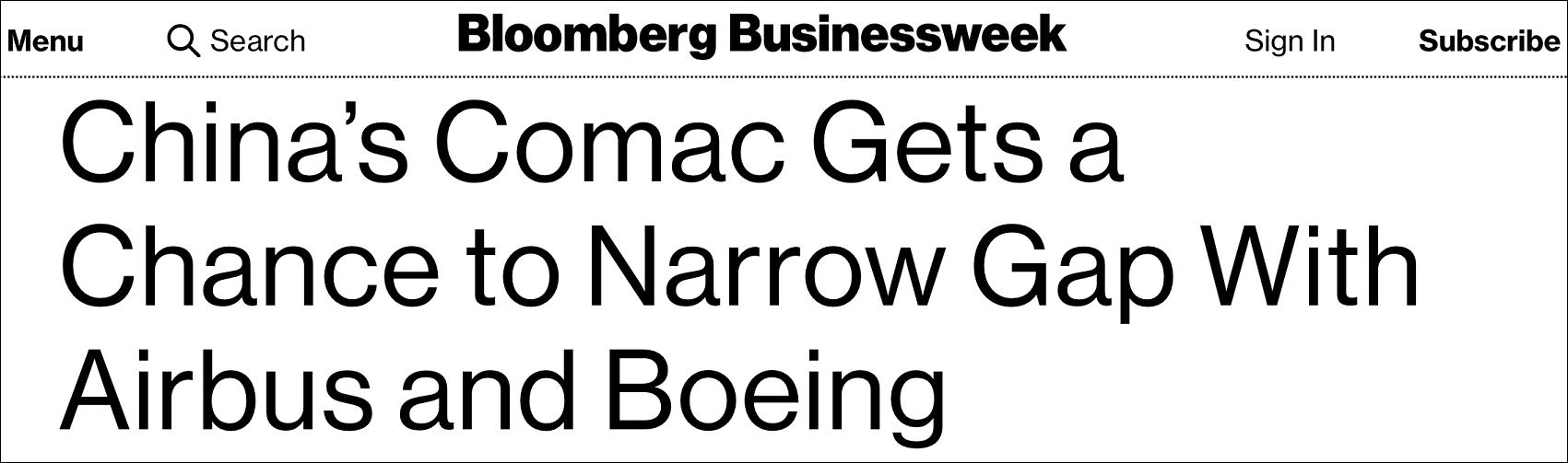 美媒:中国商飞目前拥有和波音空客缩小距离的良机