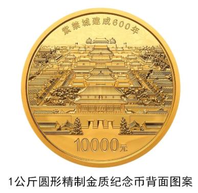 中国人民银行将发行紫禁城建成6