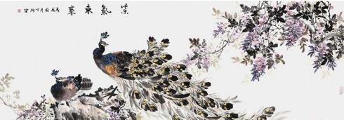 国画中孔雀象征什么 邀您共赏丁珂笔下的绝美孔雀图