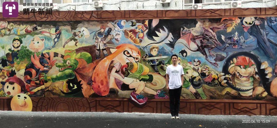 """长沙听障小伙带领""""无声团队""""创业,用巨幅3D墙绘向世界发声"""