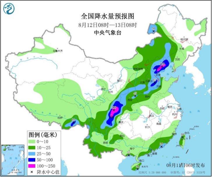 京津冀迎入汛以来最强降雨 局地可达200毫米