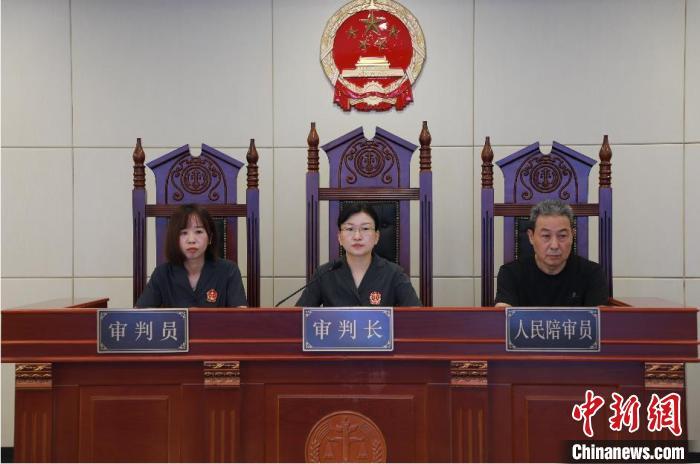 案件审判现场。杭州互联网法院 供图