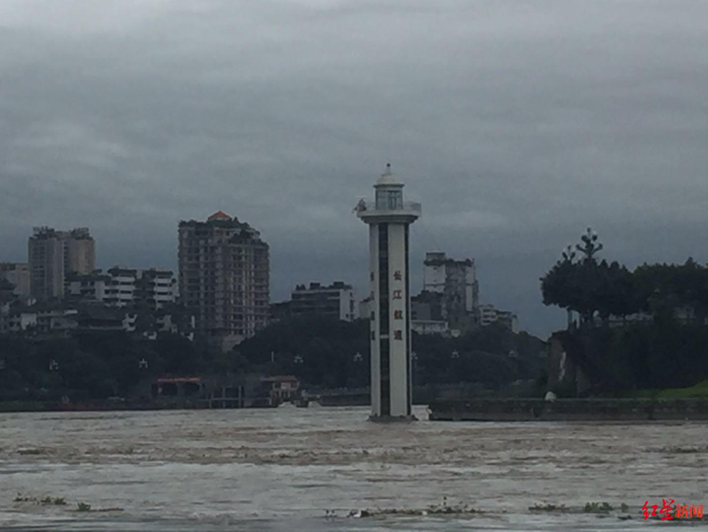 """四川宜宾""""三江""""水位涨至16.52米 系8年来最高水位"""