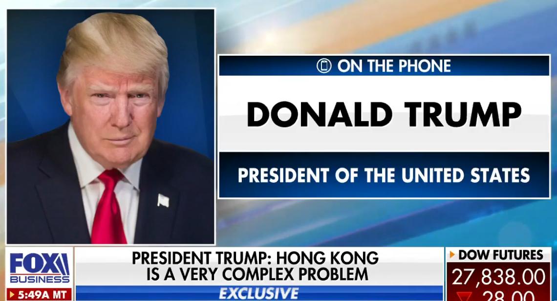 """赢咖3平台:特朗普吹嘘:没有美国""""香港就永远不会成功""""(图1)"""