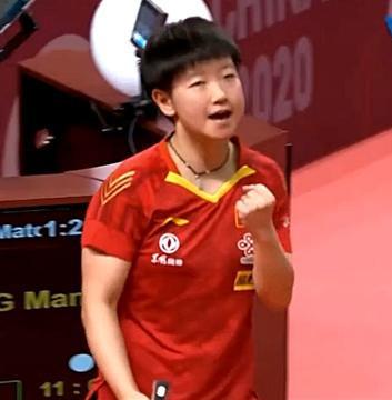 在刘国梁的鞭策下 孙颖莎给自己定了个奥运目标