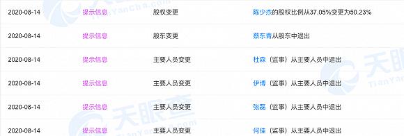 斗鱼直播创始人陈少杰股权比例变更至50.23%