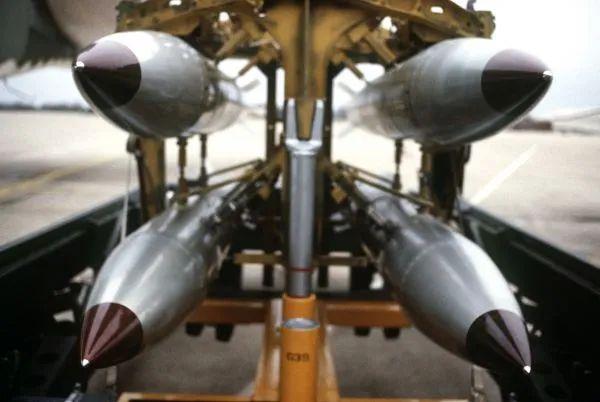 ▲资料图片:美军B61自由落体式核弹(美空军官网)