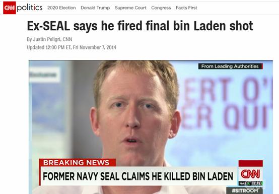 """美国击毙本拉登""""英雄"""":我不是娘们,我不戴口罩"""