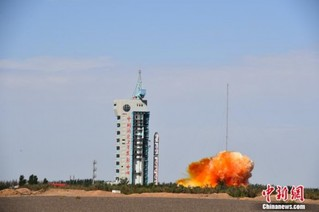 <b>一箭三星 中国乐成发射高分九号05星等3颗卫星</b>
