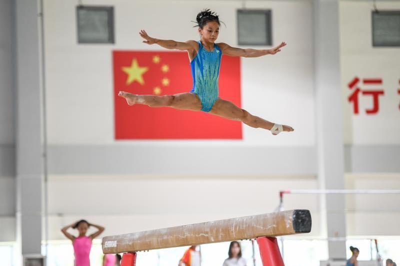1544名上海运动员训练场挥洒汗水,崇明体育基地高科技助力夏训