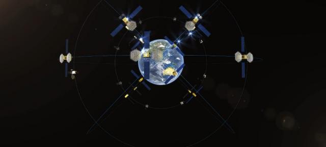 北斗三号星座 | 图片来源:中国航天科技集团有限公司