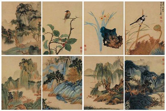 谢稚柳《仿宋山水花鸟册》 | 中国嘉德2011春拍 | 4600万