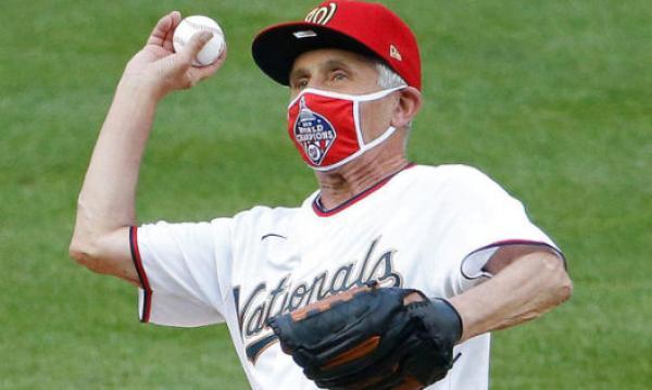 流行病学家福奇为MLB复赛开球。