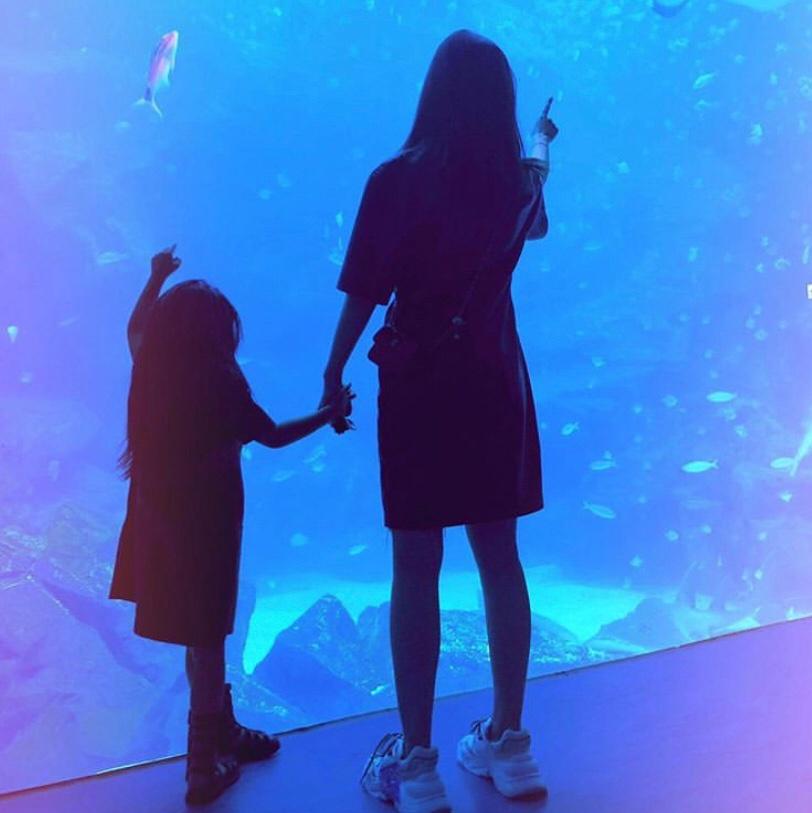 昆凌带儿女逛海洋馆,两个小宝贝暴风生长,周董镜头下的妻儿太美