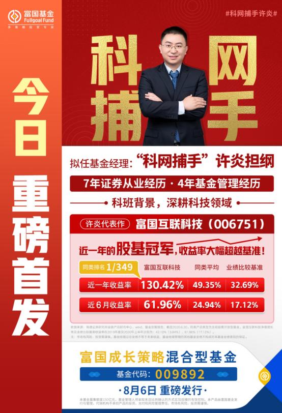 今日首发| 股基冠军新作→富国成长策略 盛大发行!