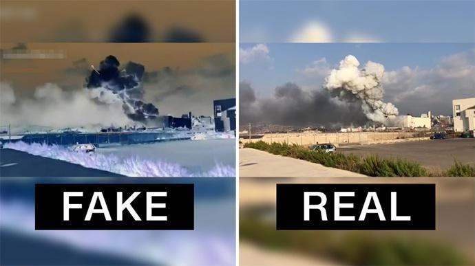 导弹状物体命中贝鲁特港口仓库?大爆炸现场视频遭篡改