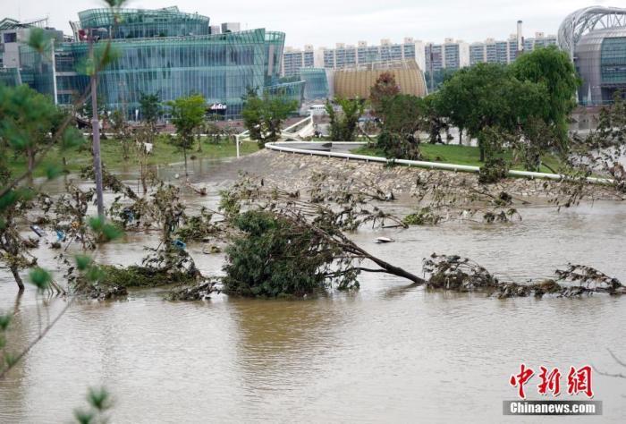 受灾规模持续扩大 韩政府将7个市郡划为暴雨特别灾区