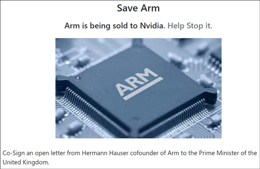 ARM联合创始人上书英国首相:救救ARM