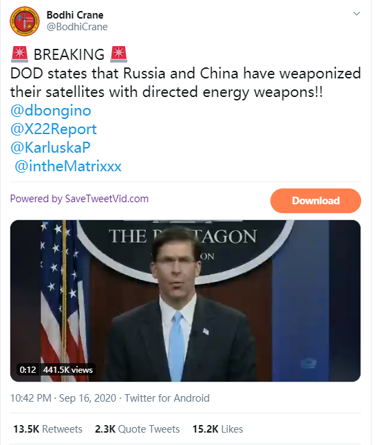 加州大火是由中国激光武器制造的?美国人脑洞真大
