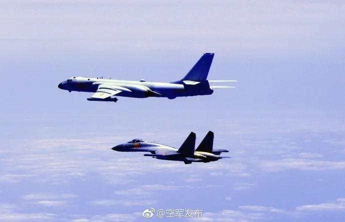 ▲美军机绕台(图片来源:中国军网)